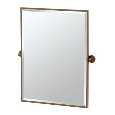 Cafe 28.25 in. x 32.50 in. Framed Single Large Rectangle Mirror
