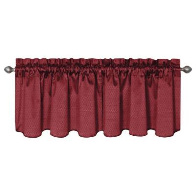 Eclipse Canova Blackout Chocolate Polyester Curtain Valance, 21 in. Length