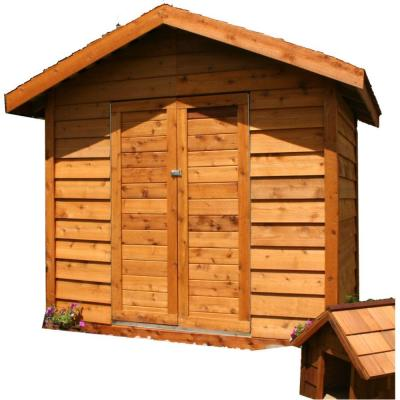 Star Lumber Deluxe 6 ft. x 8 ft. Cedar Storage Shed-DISCONTINUED