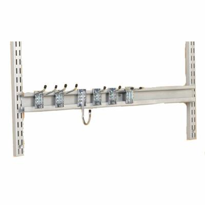 Triton Products Storability 31 in. W Gray Epoxy Coated Steel Combination Rail Kit with 6 Heavy-Duty Assorted Rail Hooks