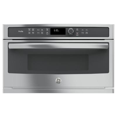 GE Profile 30 in. Electric Convection Wall Oven with Built-In Microwave in Stainless Steel