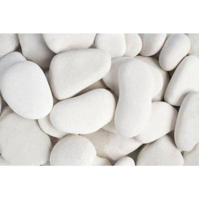 3 in. to 5 in., 30 lb. Large Flat Egg Rock Caribbean Beach Pebbles Product Photo