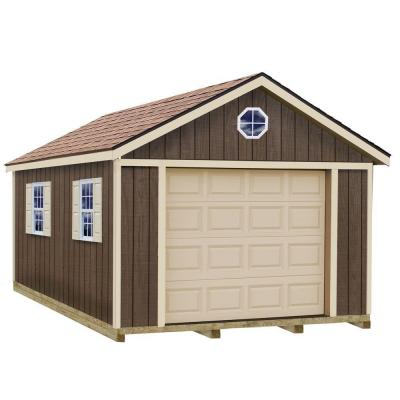 Sierra 12 ft. x 16 ft. Wood Garage Kit with Sturdy