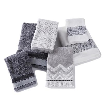 Geo Stripe Cotton Hand Towel