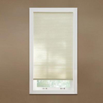 Cut-to-Width Parchment 9/16 in. Cordless Light Filtering Cellular Shade - 66.5