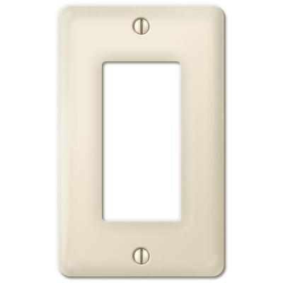 Ceramic 1 Decora Wall Plate - Biscuit