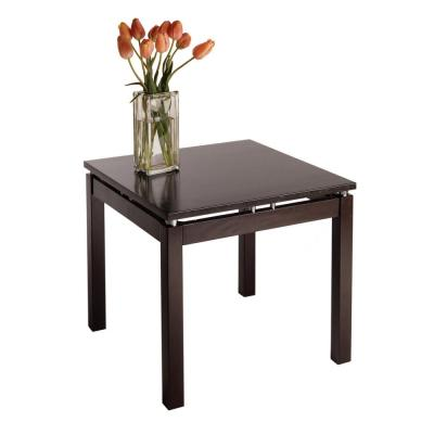 Winsome Wood Espresso Finish Linea End Table