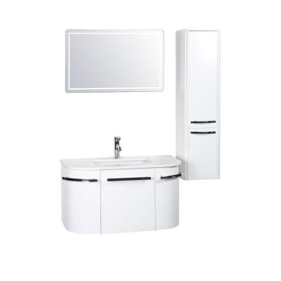 Decor Living Bianca 36 in. W x 19.68 in. D Vanity in White with Phoenix Stone Vanity Top in White with White Basin and Mirror