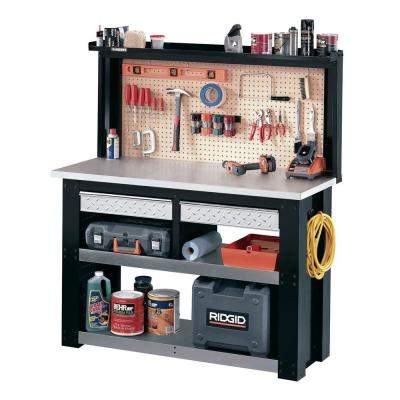 Husky Stack-On 4.5 ft. Workbench with Steel Wrapped Work Area and Additional Storage