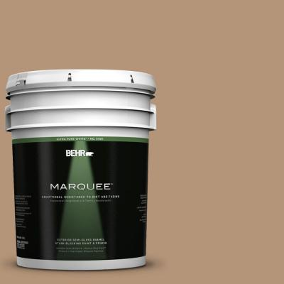 BEHR MARQUEE 5-gal. #280F-4 Burnt Almond Semi-Gloss Enamel Exterior Paint