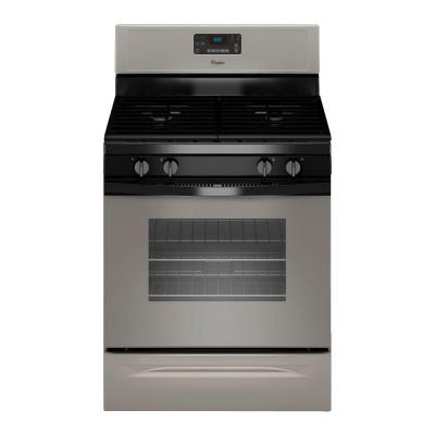 5.0 cu. ft. Gas Range with Self-Cleaning Oven in Silver
