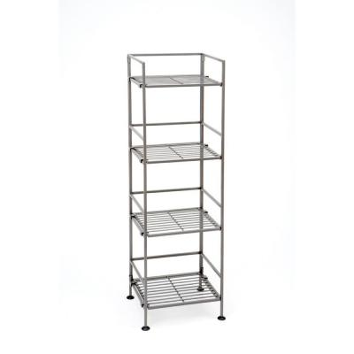 Seville Classics 4 Tier Square Iron Shelf