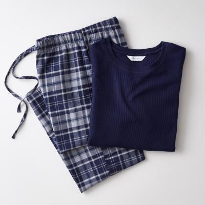 Family Flannel Company Cotton™ Men's Pajama Set in Navy Plaid