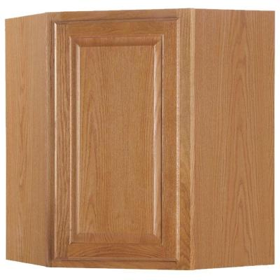 24x30x12 in. Wall Diagonal Cabinet in Medium Oak Product Photo