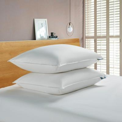 Serta 233 Thread Count Back Sleeper White Goose Feather and White Goose Down Fiber Bed Pillow