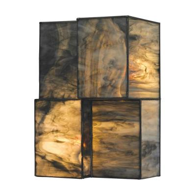 Braque Collection 2-Light Brushed Nickel LED Sconce