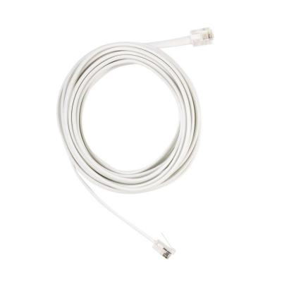 CE TECH 12 ft. Telephone Line Cord - White