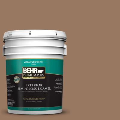 5-gal. #ECC-40-3 Seasoned Acorn Semi-Gloss Enamel Exterior Paint