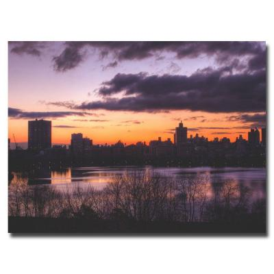22 in. x 32 in. Blue Morning Canvas Art