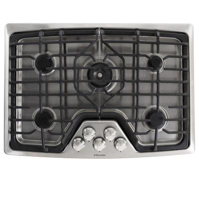 Electrolux 30 in. Deep Recessed Gas Cooktop in Stainless Steel with 5 Burners including Min-2-Max Burner-DISCONTINUED