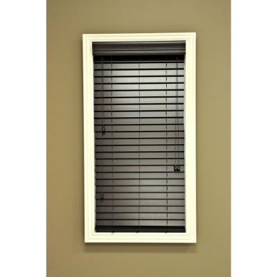 QuickShipMahogany 2 in. Faux Wood Blind - 62 in. W x 64 in. L (Actual Size 61.5 in. W 64 in. L )