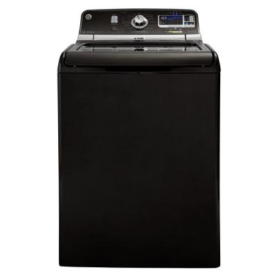GE 5.0 cu. ft. High-Efficiency Top Load Washer with Steam in Metallic Carbon, ENERGY STAR