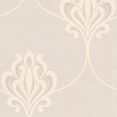 null Decadence 56 sq. ft. Nouveau Damask Wallpaper
