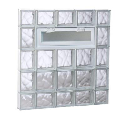 34.75 in. x 34.75 in. x 3.125 in. Vented Wave Pattern Glass Block Window Product Photo