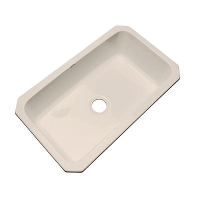 Thermocast Manhattan Undermount Acrylic 33 in. Single Bowl Kitchen Sink in Candle Lyte