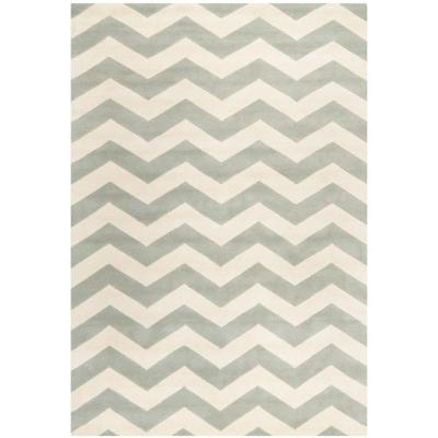Safavieh Chatham Grey/Ivory 5 ft. x 8 ft. Area Rug