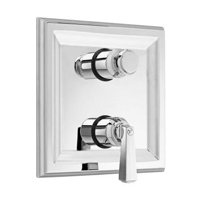American Standard Town Square 2-Handle Thermostat Valve Trim Kit with Separate Volume Control in Polished Chrome (Valve Sold Separately)