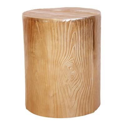 Gold Bark Textured End Table