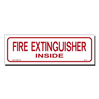 9 in. x 3 in. Decal Red on White Sticker Fire