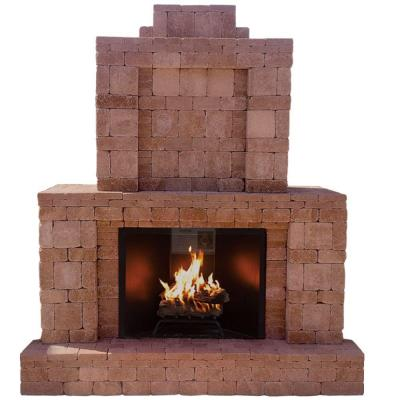 Pavestone 84 In X 94 5 In Rumblestone Outdoor Fireplace