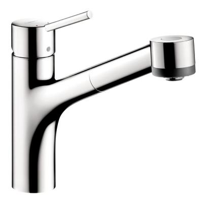 Hansgrohe Talis S Single-Handle Pull-Out Sprayer Kitchen Faucet in Chrome