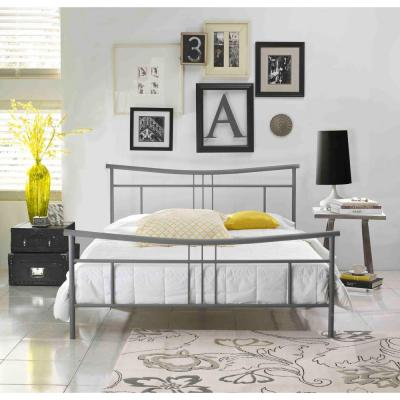 Monroe Full-Size Platform Bed in Matte Grey Product Photo