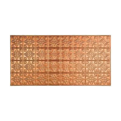 Fasade Traditional 1 - 2 ft. x 4 ft. Glue-up Ceiling Tile in Polished Copper