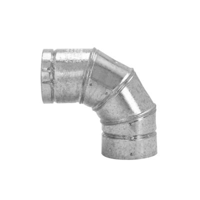 5 in. Steel 90-Degree Adjustable Gas Vent Elbow