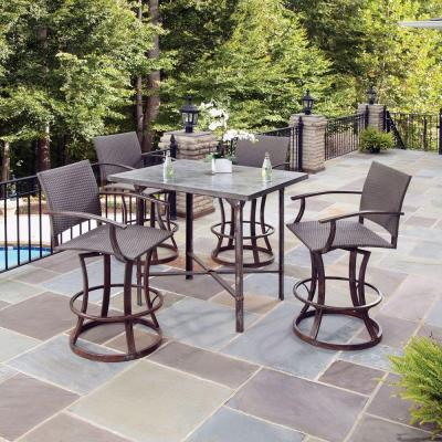 home styles urban outdoor 5 piece high patio dining set 5670 359 the