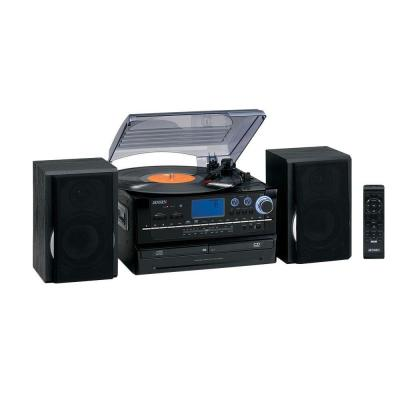 3-Speed Stereo Turntable Music System with CD/Cassette and AM/FM Stereo Radio Product Photo