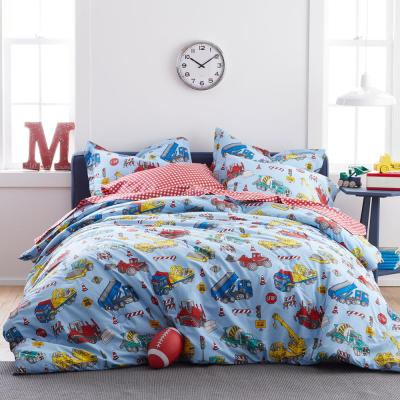 Construction Trucks Organic Cotton Percale Comforter