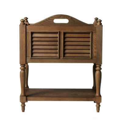 Home Decorators Collection Shutter Freestanding Magazine Rack in Weathered Oak