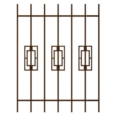 Unique home designs modern trifecta 36 in x 48 in copper for Window protector designs