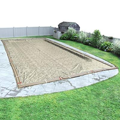 Rectangular Desert Camo Solid Above Ground Winter Pool Cover