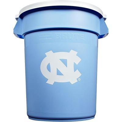 Rubbermaid Commercial Products BRUTE NCAA 32 Gal. University of North Carolina Round Trash Can with Lid