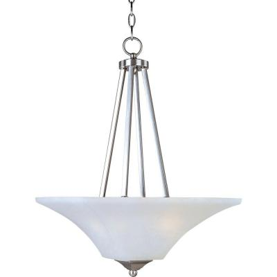 Aurora 2-Light Satin Nickel Invert Bowl Pendant