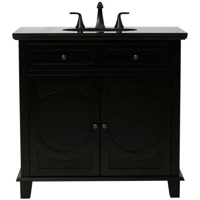 Home decorators collection hudson 36 in vanity in black with natural marble vanity top in black Home decorators collection 36 vanity