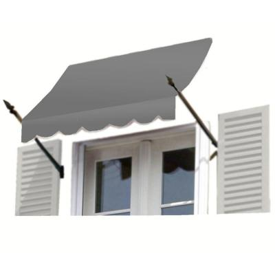AWNTECH 7 ft. New Orleans Awning (31 in. H x 16 in. D) in Gray