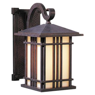 Feiss Prairie House 1-Light Weathered Patina Outdoor Wall Lantern