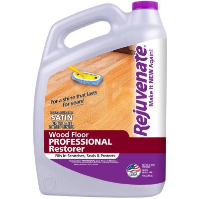 Rejuvenate 128 oz professional satin finish wood floor Rejuvenate wood floor